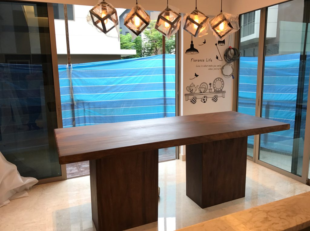 Solid Wood Dining Table Singapore Solid Wood Specialist