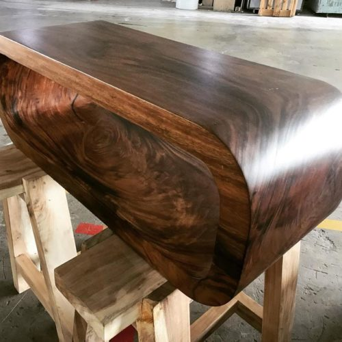 suar wood table console